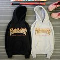 Thrasher Flame Hoodie Men Woman Skateboard Fleece Black Pink Man Sweat Suits Fashion Brand Sweatshirt Pull New Hip Pop Sudadera