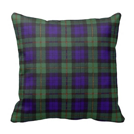 Brown Macewen Scottish Clan font b Tartan b font Plaid Throw Cushion Cover Size 45x45cm Free