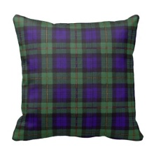Brown Macewen Scottish Clan Tartan Plaid Throw Cushion Cover (Size: 45x45cm) Free Shipping