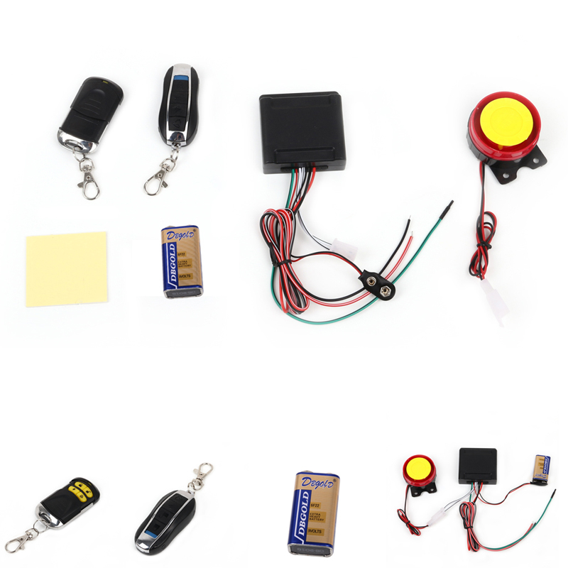 2017 1PC Electrical Ignition Remote Control Engine Start 12V Anti-theft Security Alarm System Motorcycle Bike Parts JUN19