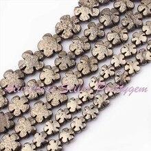 """12,16, 20mm Forma de La Flor Natural Pirita Piedra Beads Strand 15 """"DIY Accesorios Collar Pulsera Fabricación de Joyas, envío Gratis"""