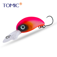 Tomic fishing plug 28mm wobbler crank bait micro trout lures hard bait single hook jerry 1pc 35mm 2 6g trout lures crankbait freshwater fishing bait ultra light micro hard lures slow sinking wobbler