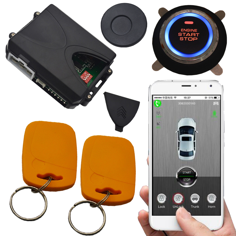 mobile gps phone remote start car security system supporting 2G 3G 4G sim card mobile sms anti hijacking without remote no pke