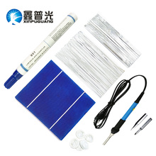 42PCS Polycrystaline Silicon DIY Solar Cells Panel 150W Photovoltaic Components PV Bus/Tabbing Tab Wire Electric Iron