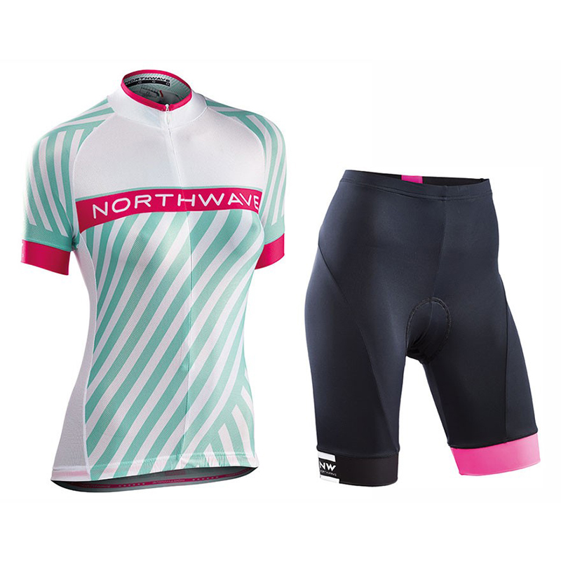 2018 NW Summer Women New Short Sleeve Cycling Jersey Set Quick Dry Ropa Ciclismo Bicycle Clothing Bike Racing Clothes