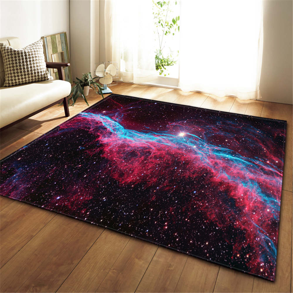 Image 2 - 3D Galaxy Space Stars Carpets Living Room Decoration Bedroom 