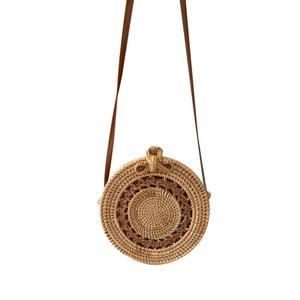 Image 2 - Bolsa de almacenamiento de ratán hecha a mano estilo bohemio Retro hogar tejido bolsa Hollow Twist patrón moda mujer bolsa 2019
