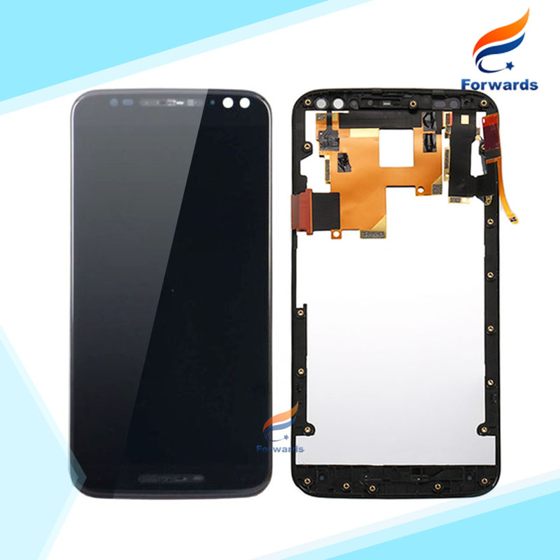 ФОТО 10pcs/lot free DHL/EMS for Motorola MOTO X Style X3 XT1570 XT1572 XT1575 LCD Screen Display with Touch Digitizer Frame Assembly