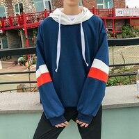 Top Quality Men Hoodies Brand Fashion Autumn Hooded Sweatshirts Men Wide Stripe Long Sleeve Pullovers Mens