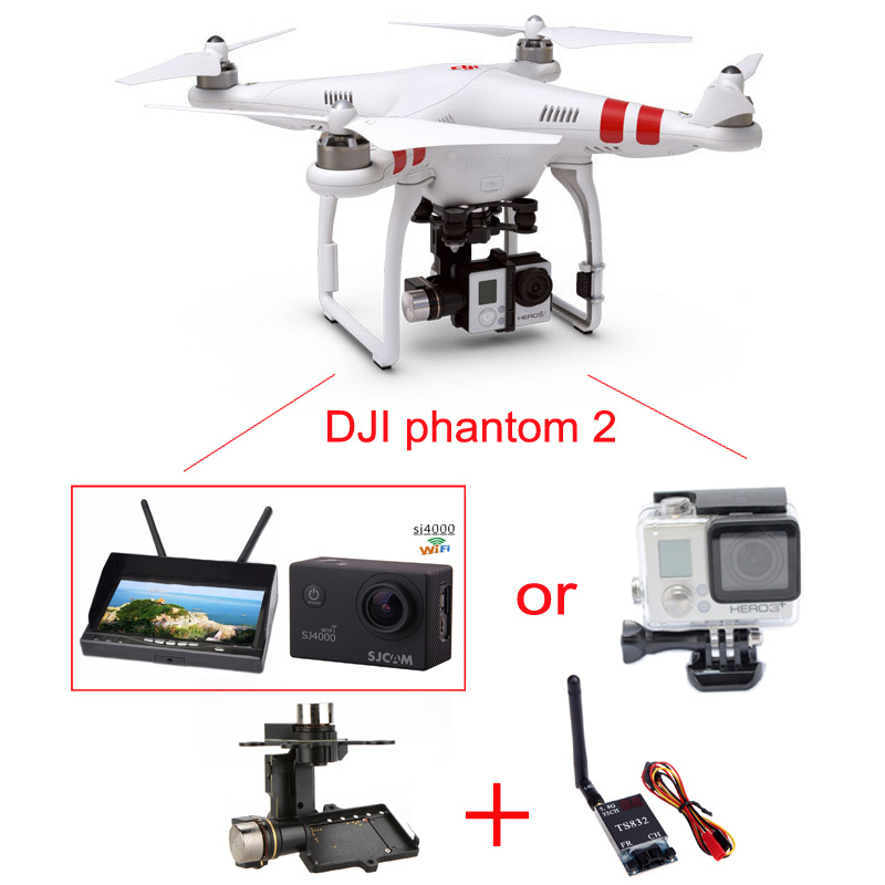 DJI Phantom 2 SJ4000 H3 3D Gimbal Drone With Camera HD Monitor RC ...