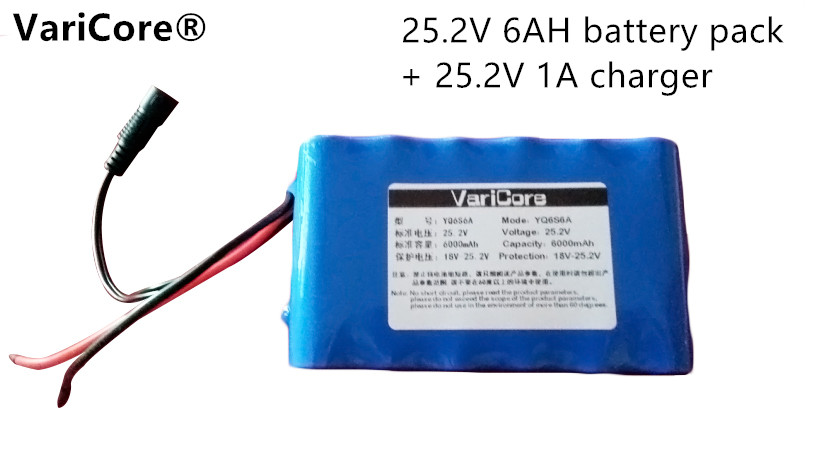 24 V  6ah 6S3P 18650 Battery 25.2 V lithium battery electric car battery / moped 420 high-capacity 2016 promotion new standard battery cube 3 7v lithium battery electric plate common flat capacity 5067100