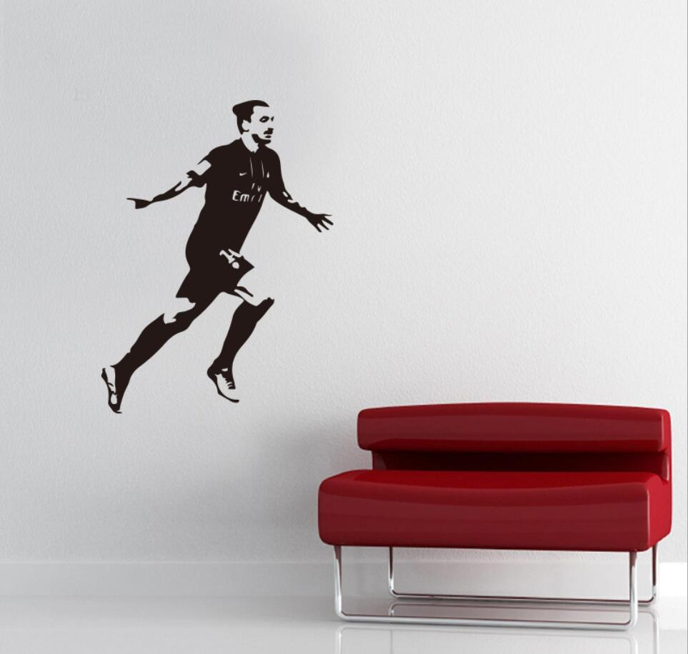 US $9 99 Pemain Sepak Bola Menjalankan Wallpaper Stiker Dinding PVC Stiker On AliExpress