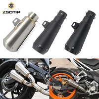 ZSDTRP 51mm Motorcycle Exhaust Muffler with DB Killer for CB250 CB400 R1 R6 ZX 6R ZX 10R GSXR Dirt Bike 125cc Exhaust System