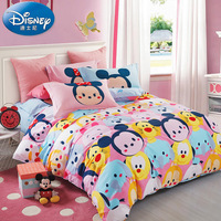 3Pcs Children Mickey Minnie Mouse Bedding Sets Home textile Soft Cartoon Quilt Cover Pillowcase Bed Sheet Bed Linen girl boy