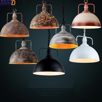 IWHD Edisin Style Loft Retro Hanging Lights Lamp Color Iron Industrial Vintage Pendant Light Fictures Hanglamp Home Lighting new loft vintage iron pendant light industrial lighting glass guard design bar cafe restaurant cage pendant lamp hanging lights