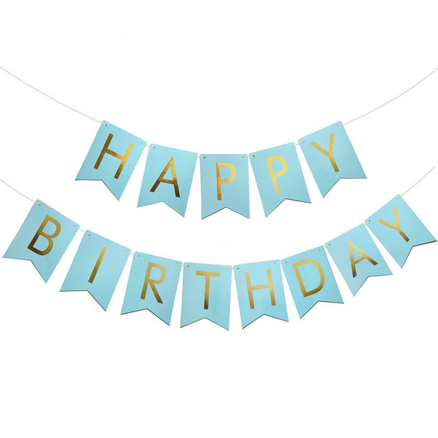 1set Birthday Party Supplies Happy Birthday Letter Bunting