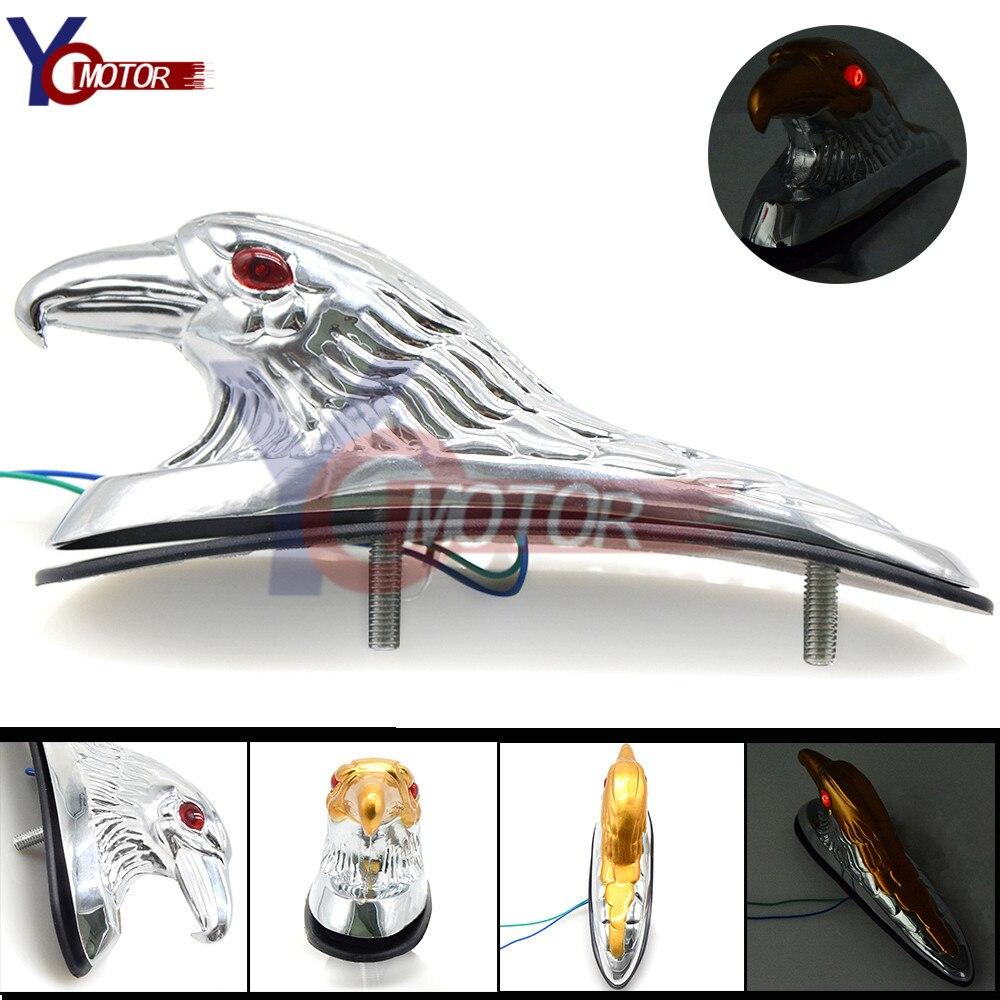 ABS plastic Motorcycle Accessories Chrome Eagle Head Ornament Statue For Moto ATV Front Fender Frames&Fitting Car Bonnet Light