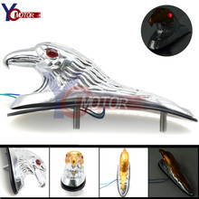 ABS plastic Motorcycle Accessories Chrome Eagle Head Ornament Statue For Moto ATV Front Fender Frames&Fitting Car Bonnet Light