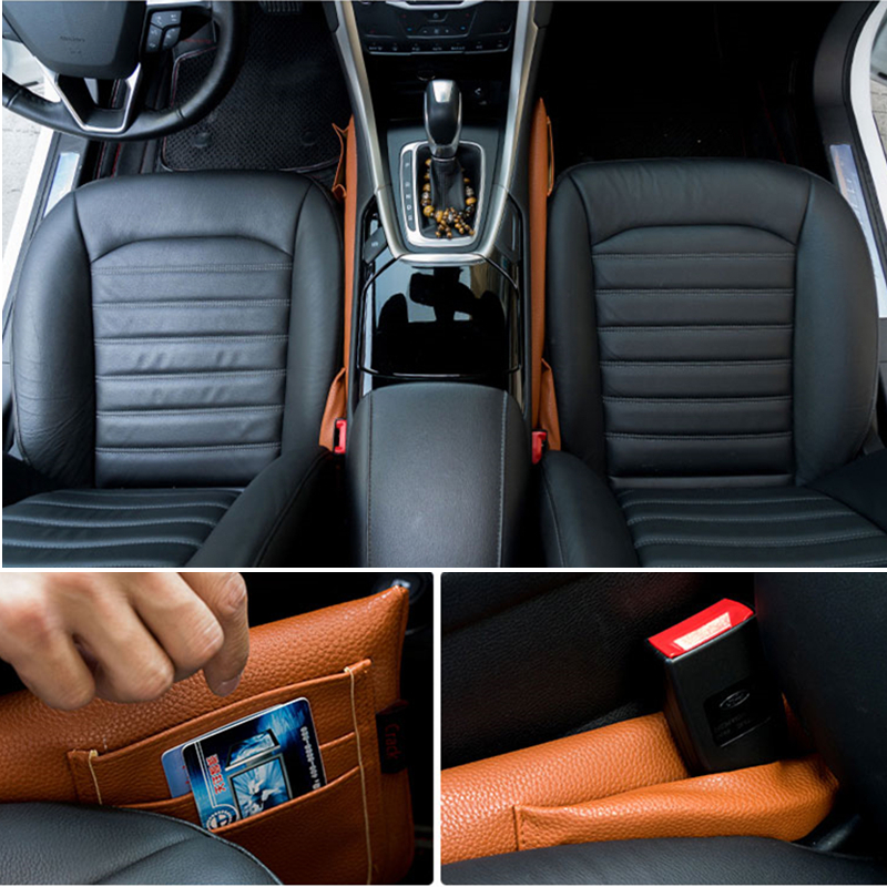 Car Seat Crevice Gap Stopper PU Leather Leakproof Pad plug For Mercedes w211 w203 w210 W124 W204 W205 GLA GLK W212 W202 CLA GLC car keychain key ring accessories for mercedes benz a b c e class w203 w211 w204 w124 w210 amg w212 w205 w202 w176 w168 w169