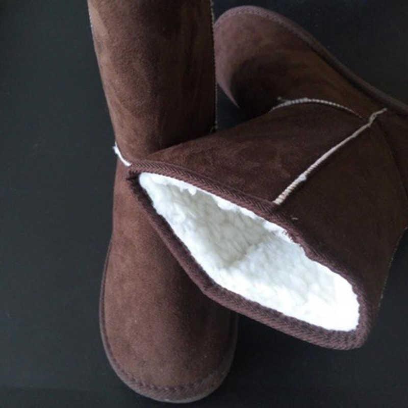 2019 ออกแบบคลาสสิก Flock ฤดูหนาวหิมะรองเท้าผู้หญิง Anti - slip เลดี้รองเท้ารองเท้าสีดำ