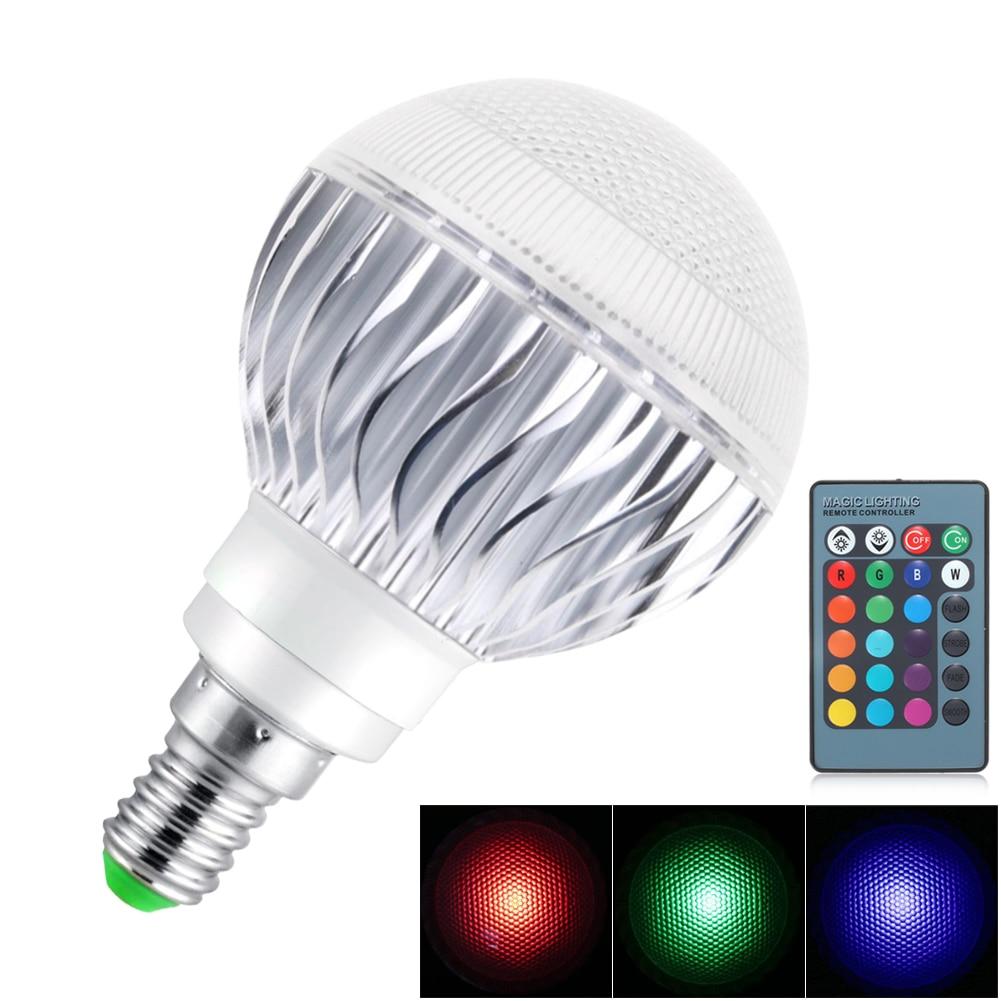 E27 RGB Led Lampe Ampoule AC110V 220 V E14 E26 LED Lumière RGB 5 W 10 W SpotLight 16 Changement de Couleur Dimmable Lampada Led Luz + À Distance contrôle
