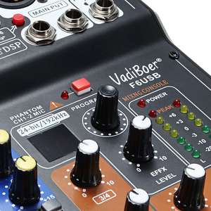 Image 3 - LEORY Mini 6 Channels Audio DJ Karaoke Sound Mixer Mixing Console With High Quality DSP Effect 16 Types For PC Audio KTV Meeting