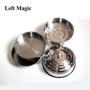 Image 3 - Fire Dove Pan  Fire Dove Pan Double Load Magic Tricks Silver Double Layer Stage Magic Appearing Tricks  Illusion Accessories
