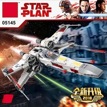 Star Wars Series X-wing Starfighter Kompatibel Legoing Starwars 75218 Blok Bangunan Batu Bata Mainan Model Hadiah Natal Anak-anak