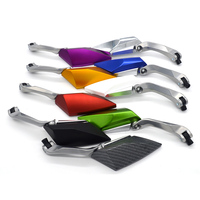 Free Shipping 9 Colors Optional CNC Motorcycle Rearview Mirrors For Kawasaki Motocycle Accessories Universal Automobiles Parts