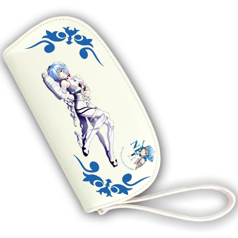 Высокое качество EVA Ayanami Rei Аска Лэнгли Сорю COS принт Для женщин Длинный кошелек студент короткие Kawaii кошелек Лолита carteira feminina