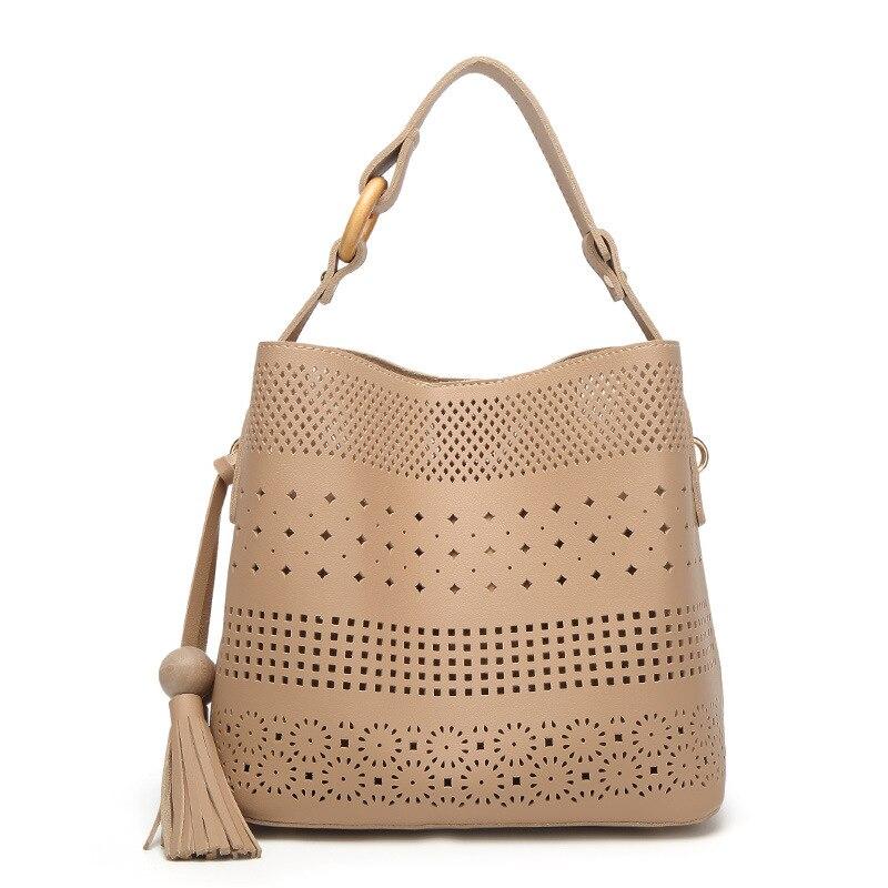 Women handbags female shoulder bag ladies fashion crossbody bags hollow out designs PU leather high quality