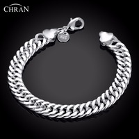 CHRAN Charm Bridal Jewelry Accessories Lovely Femal Bracelets Classic Silver Plated Chain Friendship Bracelets For Women