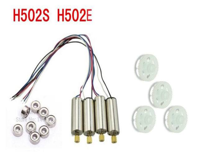 4Pcs CW CCW Motor Engine Gear Hubsan X4 H502S H502E RC Drone Replacement Parts