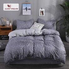 SlowDream Star Gray bedding Set For MANS Adult Flat Sheet Pillowcase Duvet Cover Bedspread Comforter Linen Decor