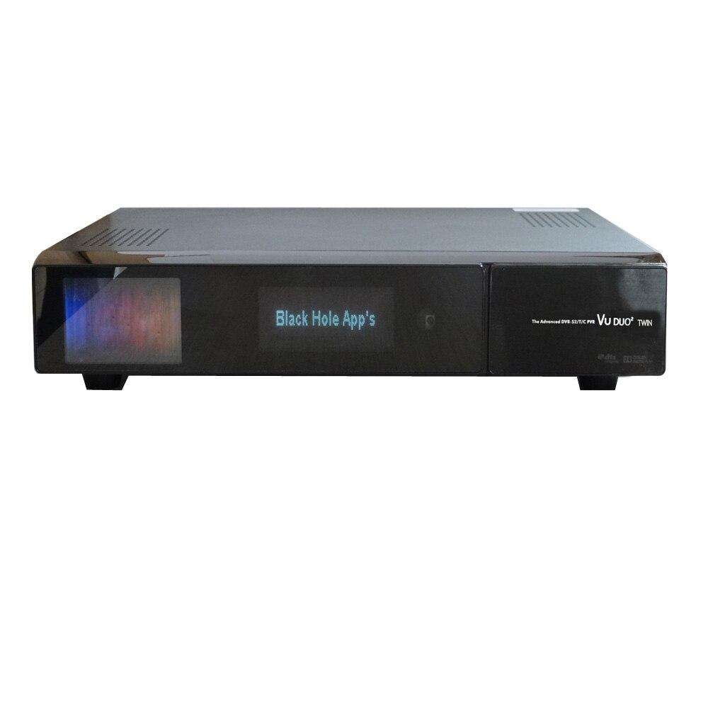 VU DUO2 TWIN DVB-S2 DVB-C TV Tuners Intelligent Linux Récepteur Satellite BCM7424ZZKFEB3G Chipset Intégré WiFi Soutien 2.5 HDD SATA
