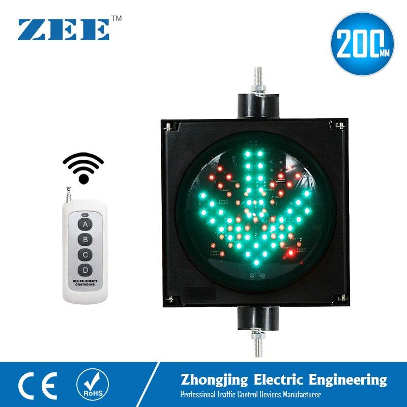 o controle remoto 200mm conduziu a luz de trafego cruz vermelha seta verde conduziu sinais de