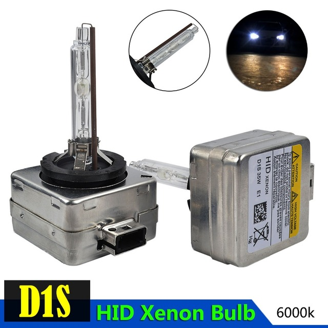 Taitian 2pcs 12v 35w Xenon Hid Bulb D1s 6000k External