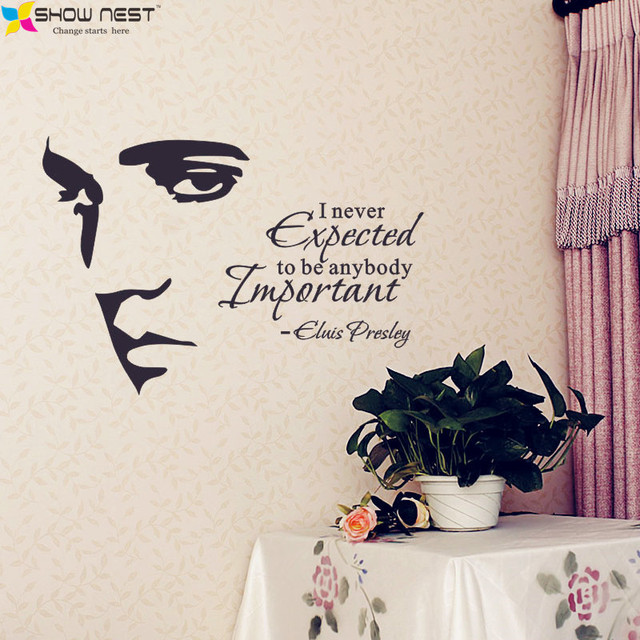 ELVIS PRESLEY Silhouette Vinyl Wall Art Quote Decal Stickers Home Decor