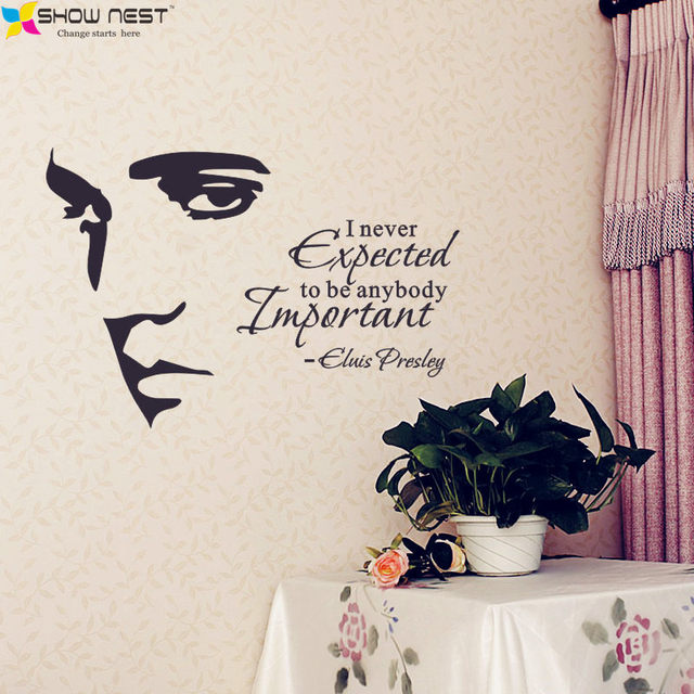 ELVIS PRESLEY Silhouette Vinyl Wall Art Quote Decal Stickers Home Decor    Living Room Wall Mural Decorations   Free Shipping