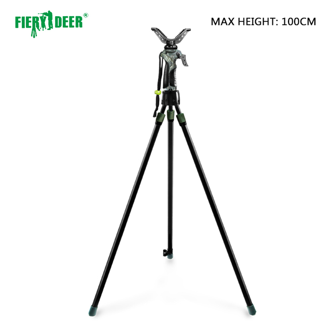Prohibit selling to GERMANY/FIERY DEER  DX-004-03GEN3 Tripod Shooting Stick Outdoor Hunting TelescopicAirRifleShooting 100cm