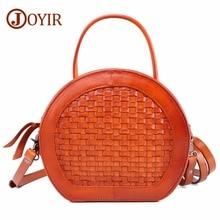 JOYIR Women's Handbags Genuine Leather Bags Kniting Messenger Crossbody Bags For Women Shoulder Bags Party Bolsa Feminina Tote цена и фото