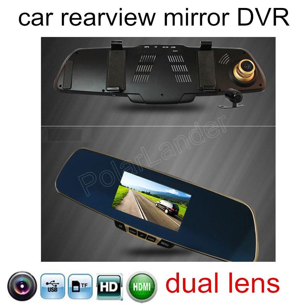 DVR 1080P Rear-Camera Rearview-Mirror Car-Recorder Reversing-Image Dual-Lens HD Include