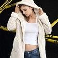 Uuv longo da pele de carneiro camurça casaco de inverno mulheres jaqueta de lapela quente grossa jaqueta com capuz longo das mulheres casacos sobretudo jaquetas js3072