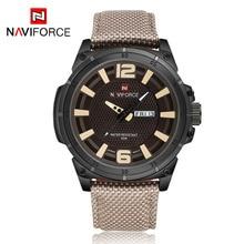 Nouveau NAVIFORCE 9066 Hommes Sport Montres Quartz Heures Date Horloge Homme Nylon Bande Militaire de L'armée Montre-Bracelet Étanche Relogio Mâle