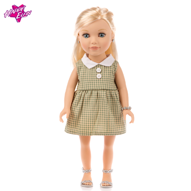 Soft Princess Dress Doll Clothes for 18 inch Dolls American Girl Doll Clothes Accessories Health Cloth 1pcs white pink doll fashion dress for 18 inch dolls american girl doll clothes new style