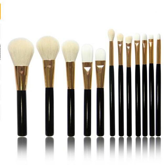 Aochern 12 UNIDS Contorno Fundación Cepillos Set Ojos Sombra de Ojos Pencil Blending Herramienta de Pinceles de Maquillaje Cosmético