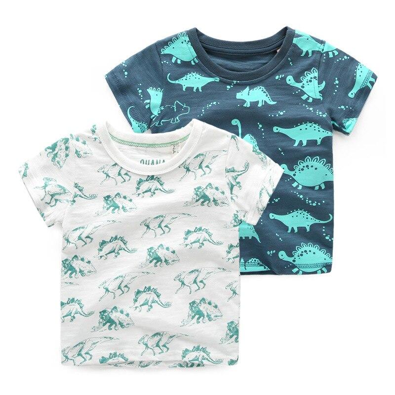 1a32226c1d 2016 Meninos Verão Camiseta de Algodão Crianças Criança Dinossauro Impresso  T-Shirt Para Meninos Bebê Roupa Dos Miúdos Meninos T-shirt Tops