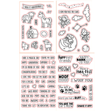 4*6inch Bee Elf Animals Forever Friend Woof Meow Sentences Transparent Clear Stamps for DIY Scrapbooking Paper Cards Crafts 2019