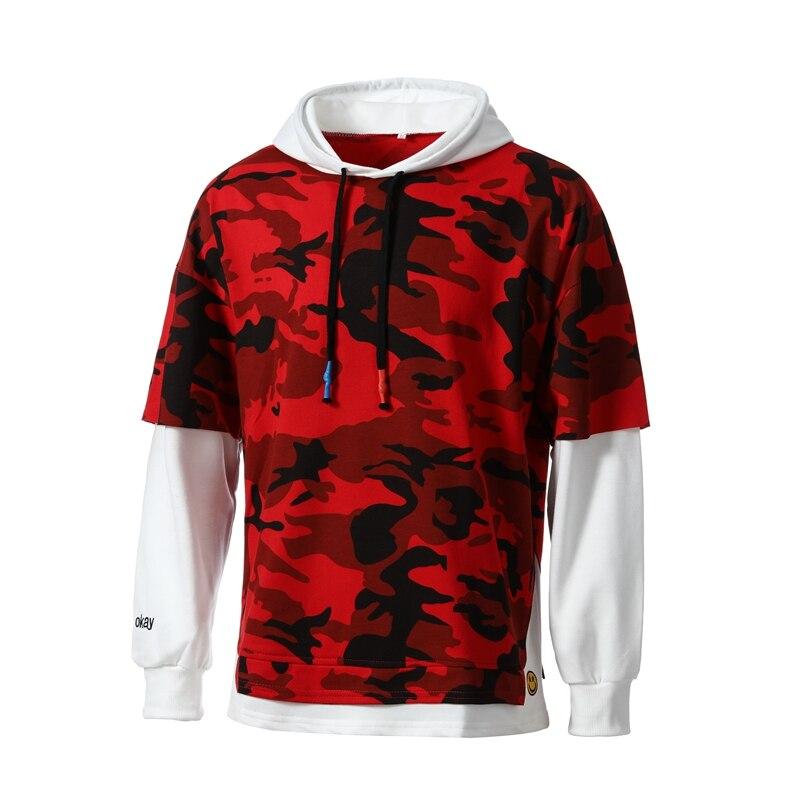 100% QualitäT 2018 Heißer Männer Hoodie Camouflage Mit Kapuze Sweatshirt Mode Lässig Männer Persönlichkeit Plissee Raglan ärmeln Mit Kapuze Pullover