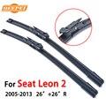 "Qeepei 26 ""+ 26"" windshield wiper blade para seat leon r janela ii 2005-2013 acessórios do carro borracha auto brisas cpb111"